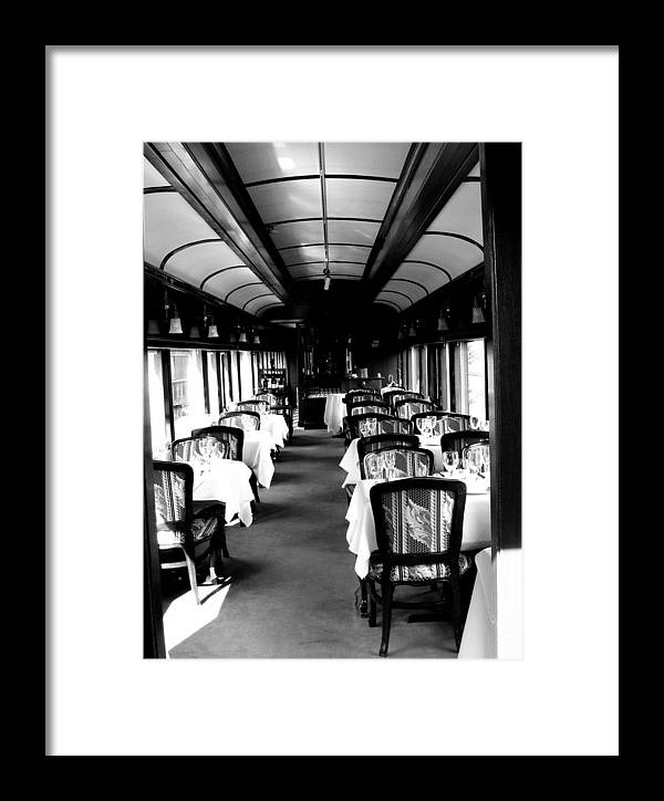 Train Framed Print featuring the photograph Canadian Pacific Dining by Erin Marcoccia