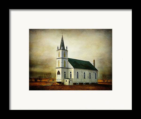 Church Framed Print featuring the photograph Canadian Prairie Heritage by Blair Wainman