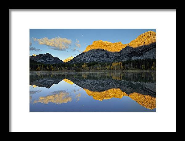 Alberta Framed Print featuring the photograph Canadian Rocky Mountain Autumn Landscape by Don Johnston
