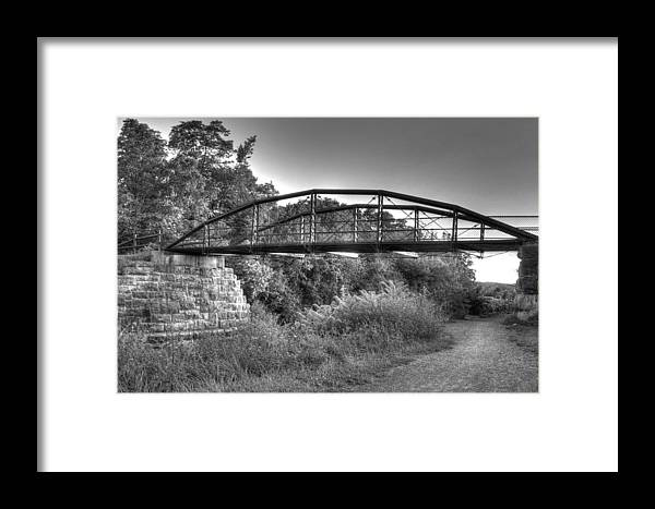 Landscape Framed Print featuring the photograph Canal Bridge by MaryGail Perkins