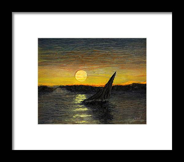 Impressionist Framed Print featuring the painting Canary Sunset by Bill Brown