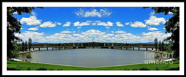 Australia Framed Print featuring the photograph Canberra 9 by Ben Yassa