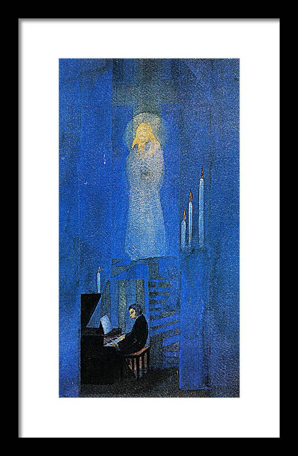 Framed Print featuring the digital art Candle by Asiti Nandy