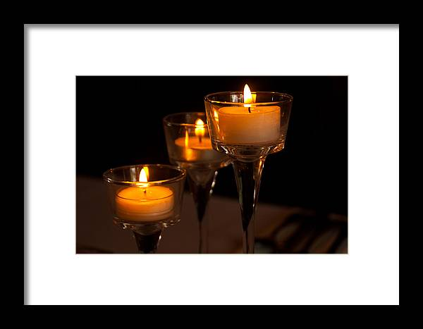 Candles Framed Print featuring the photograph Candles by Pat Moore