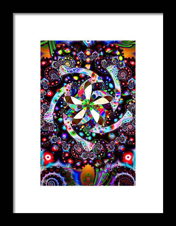 Jim Pavelle Fine Art Framed Print featuring the digital art Candy Dish by Jim Pavelle
