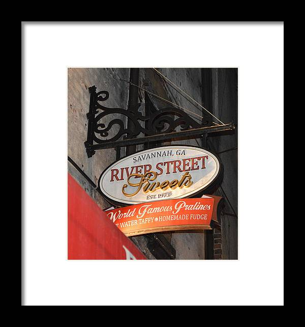 Candy Shop Framed Print featuring the photograph Candy Shop Sign by Linda Covino