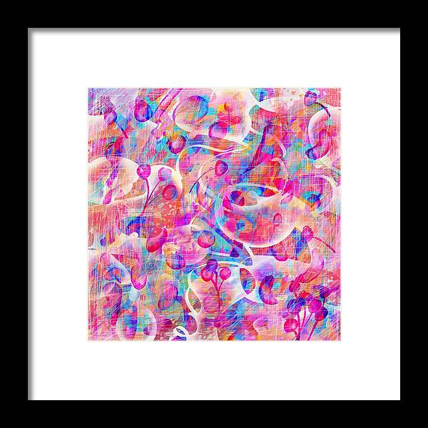 Abstract Framed Print featuring the digital art Candyland by William Russell Nowicki