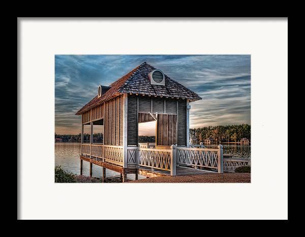 Canebrake Framed Print featuring the photograph Canebrake Boat House by Brenda Bryant