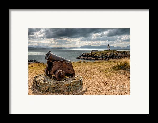 Anglesey Framed Print featuring the photograph Cannon At Llanddwyn by Adrian Evans