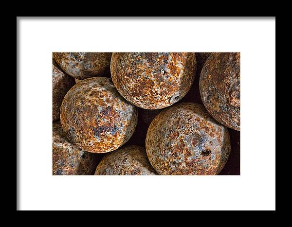 Cannon Balls Framed Print featuring the photograph Cannon Balls by Larry Fry