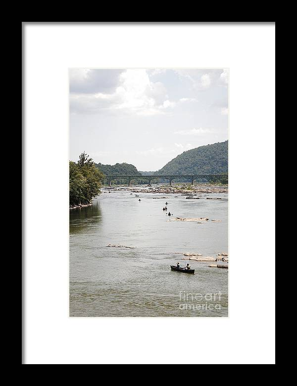 Canoe Framed Print featuring the photograph Canoeing On The Potomac River At Harpers Ferry by William Kuta