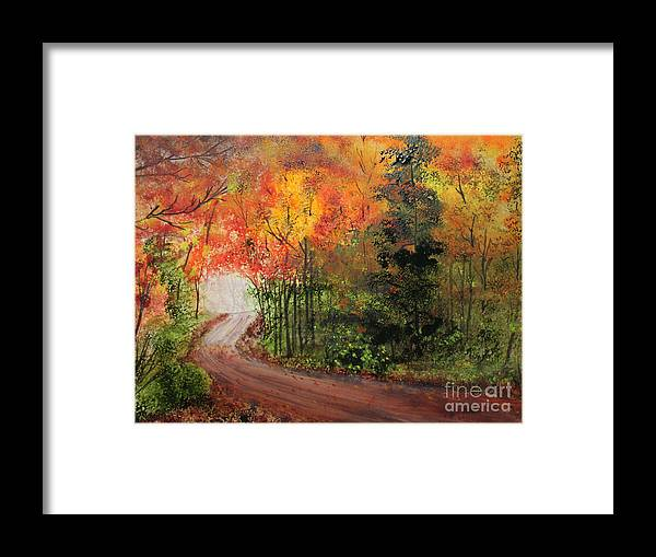 Forest Framed Print featuring the painting Canopy Of Colors by Jack G Brauer