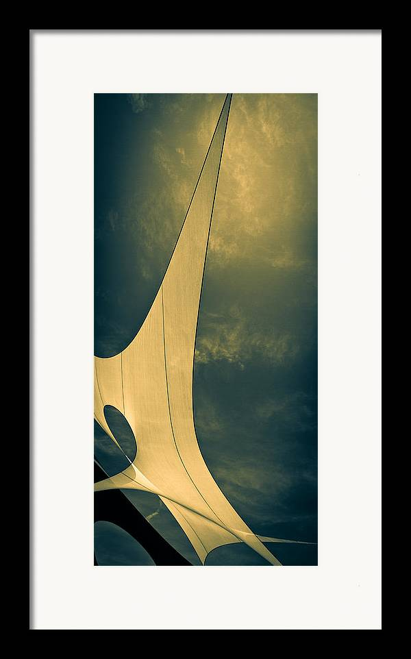 Abstract Framed Print featuring the photograph Canvas Sky by Bob Orsillo
