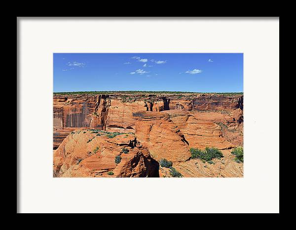 Canyon Framed Print featuring the photograph Canyon De Chelly From Sliding House Overlook by Christine Till
