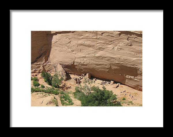 Canyon Framed Print featuring the photograph Canyon De Chelly Ruins by Christiane Schulze Art And Photography