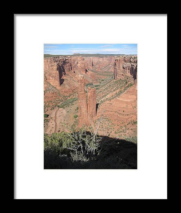 Canyon Framed Print featuring the photograph Canyon De Chelly Spider Rock by Christiane Schulze Art And Photography