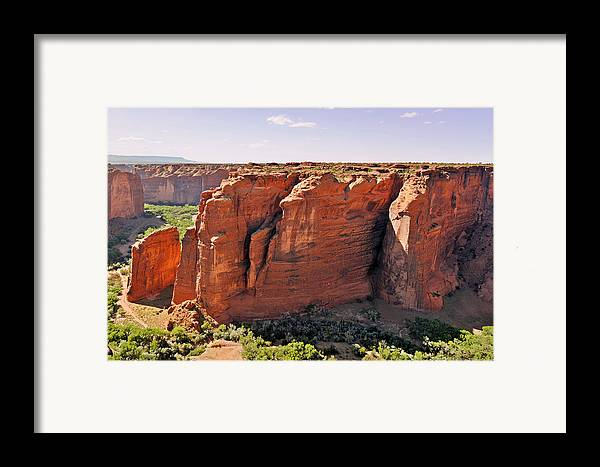 Canyon Framed Print featuring the photograph Canyon De Chelly - View From Sliding House Overlook by Christine Till