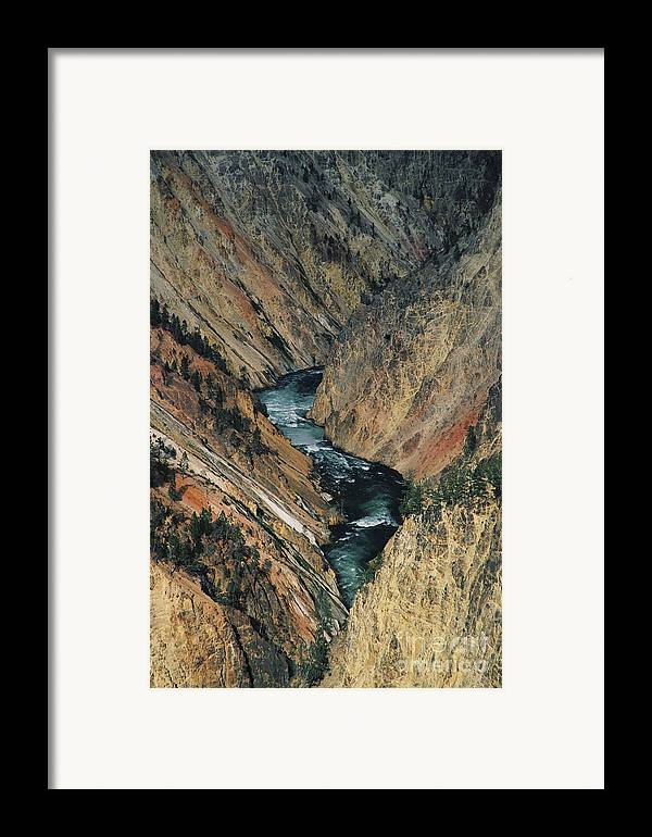 Yellowstone Framed Print featuring the photograph Canyon Jewel by Kathy McClure