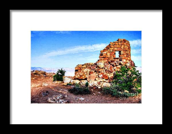 Canyon Rocks Framed Print featuring the photograph Canyon Rocks by Mel Steinhauer