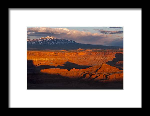 Canyonlands Framed Print featuring the photograph Canyonlands Light by Joseph Rossbach