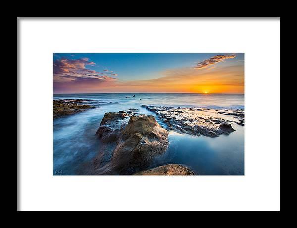 Orcas Framed Print featuring the photograph Cape Arago Orcas by Robert Bynum