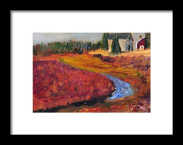 Cape Cod Framed Print featuring the painting Cape Cranberry Bog In Season by Michael Helfen