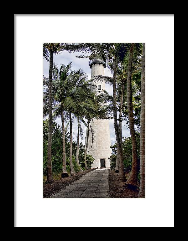 Deb Cloer Framed Print featuring the photograph Cape Florida Historic Lighthouse by Deb Fruscella