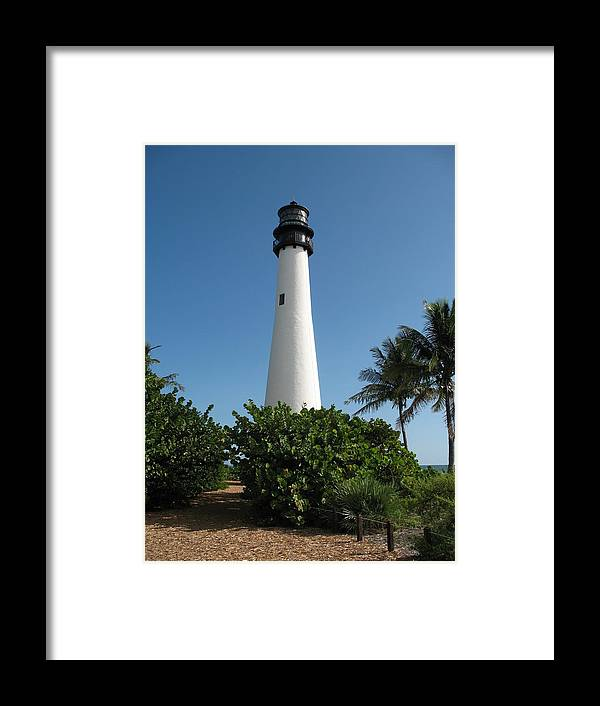 Lighthouse Framed Print featuring the photograph Cape Florida Lightstation by Christiane Schulze Art And Photography