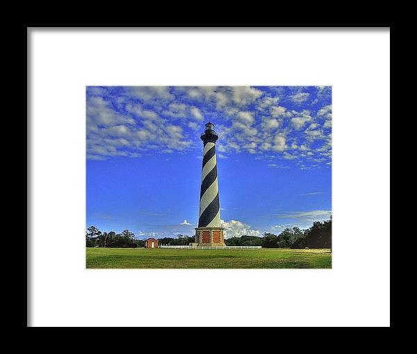 Cape Framed Print featuring the photograph Cape Hatteras Light by Capt Gerry Hare