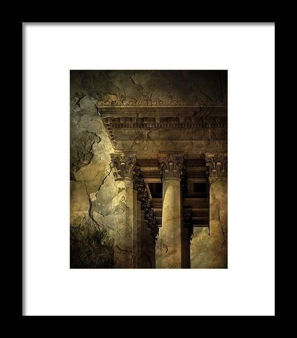 Georgian Revival Framed Print featuring the photograph Capitol Columns by Jane Ann Long