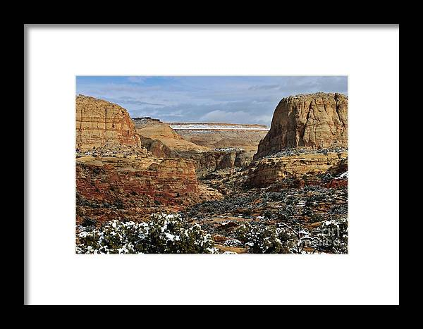 Photo Framed Print featuring the photograph Capitol Reef by Bernard MICHEL