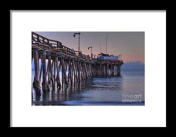 Capitola Framed Print featuring the photograph Capitola Wharf At Dusk by Morgan Wright