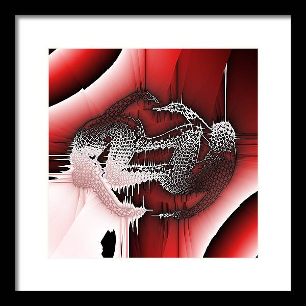 Abstract Framed Print featuring the digital art Capoeira 9 by Jack Bowman
