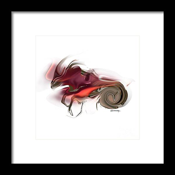 Astrology Framed Print featuring the painting Capricorn by Christian Simonian