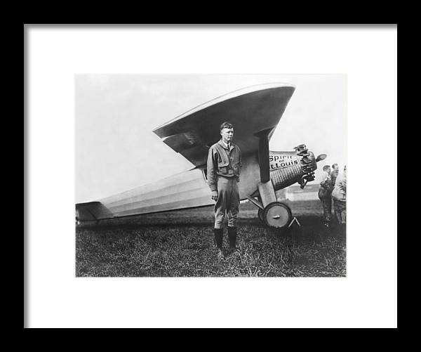 1927 Framed Print featuring the photograph Captain Charles Lindbergh by Underwood Archives