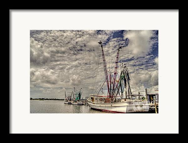 Swansboro North Carolina Framed Print featuring the photograph Captain Phillips by Benanne Stiens