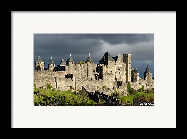 Carcassonne Framed Print featuring the photograph Carcassonne Stormy Skies by Robert Lacy