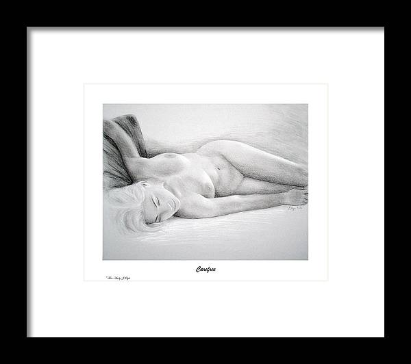 Joe Ogle Framed Print featuring the painting Care Free-print Only by Joseph Ogle