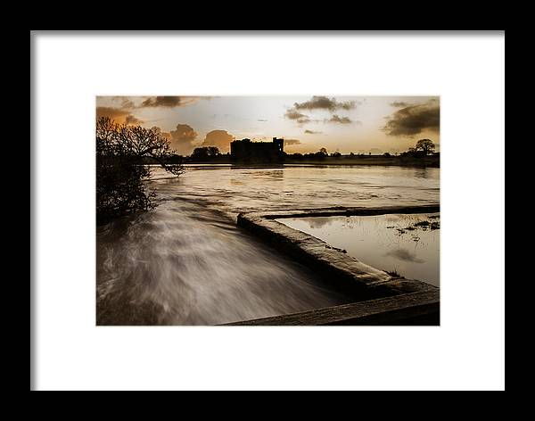 Carew Framed Print featuring the photograph Carew Castle And Lake by Simon West