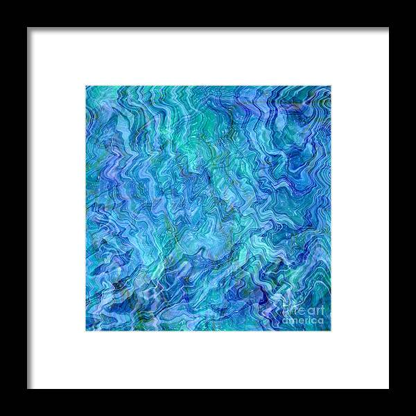 Blue Abstracts Framed Print featuring the photograph Caribbean Blue Abstract by Carol Groenen