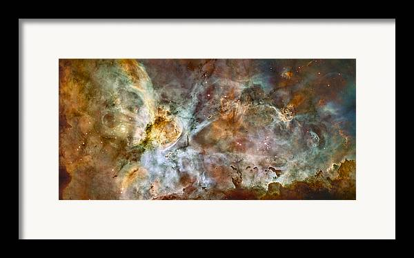 3scape Photos Framed Print featuring the photograph Carina Nebula by Adam Romanowicz