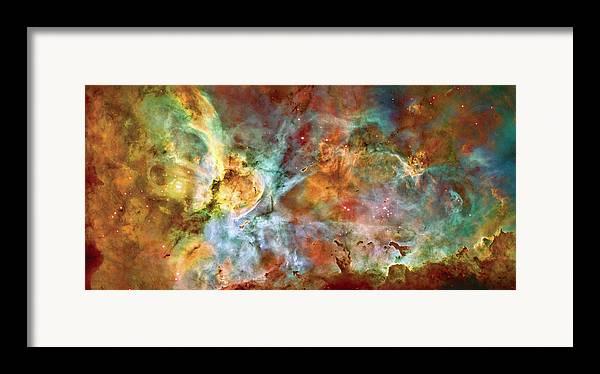 Universe Framed Print featuring the photograph Carina Nebula - Interpretation 1 by Jennifer Rondinelli Reilly - Fine Art Photography