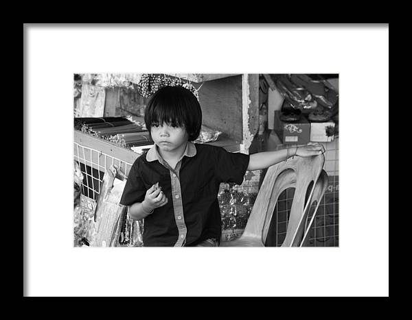 Jezcself Framed Print featuring the photograph Carl by Jez C Self