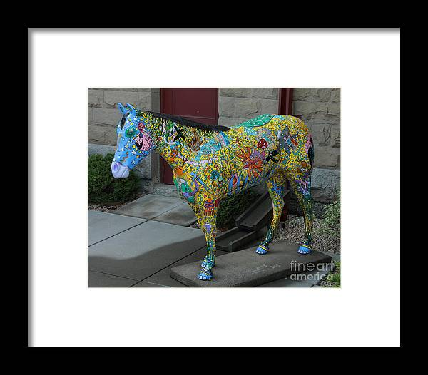 Wild Horses Framed Print featuring the photograph Carl by Rod Giffels