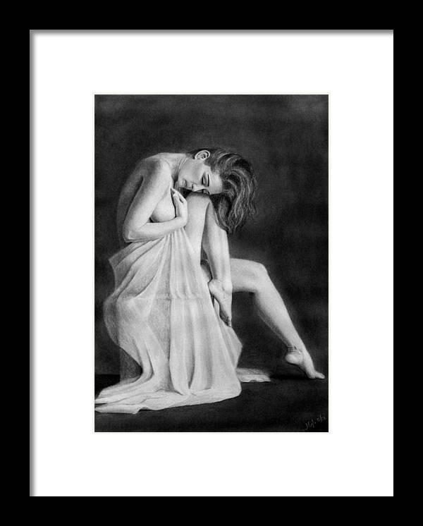Joe Ogle Framed Print featuring the drawing Carly by Joseph Ogle