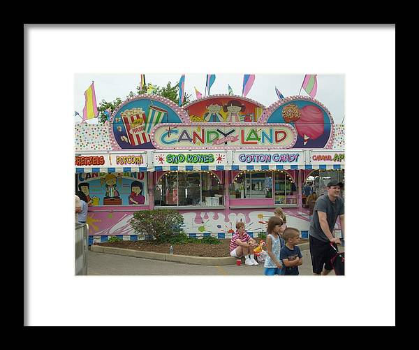 Carnival Framed Print Framed Print featuring the photograph Carnival Candy Land by Ann Willmore