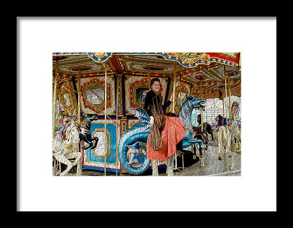 Red Framed Print featuring the digital art Carnival Day In Color by Teri Schuster