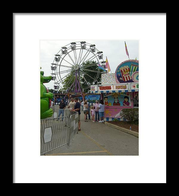 Ferris Wheel Framed Prints Framed Print featuring the photograph Carnival Ferris Wheel by Ann Willmore