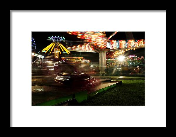 Carnival Framed Print featuring the photograph Carnival Ride 1 by David DeCenzo