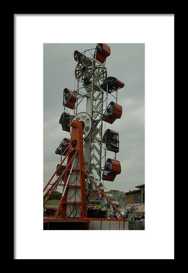 Carnival Framed Print Framed Print featuring the photograph Carnival Zipper by Ann Willmore